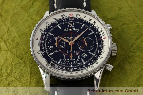 Used luxury watch Breitling Montbrillant chronograph steel automatic Kal. B41 ETA 2892A2 Ref. A41370  | 142825 15