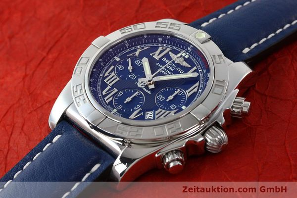 Used luxury watch Breitling Chronomat 44 chronograph steel automatic Kal. B01 Ref. AB0110  | 142826 01