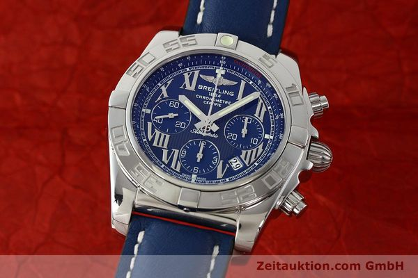 Used luxury watch Breitling Chronomat 44 chronograph steel automatic Kal. B01 Ref. AB0110  | 142826 04