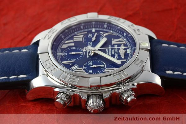 Used luxury watch Breitling Chronomat 44 chronograph steel automatic Kal. B01 Ref. AB0110  | 142826 05