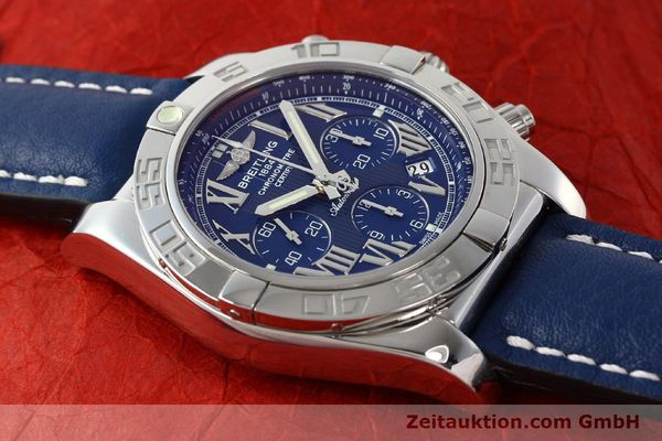 Used luxury watch Breitling Chronomat 44 chronograph steel automatic Kal. B01 Ref. AB0110  | 142826 15