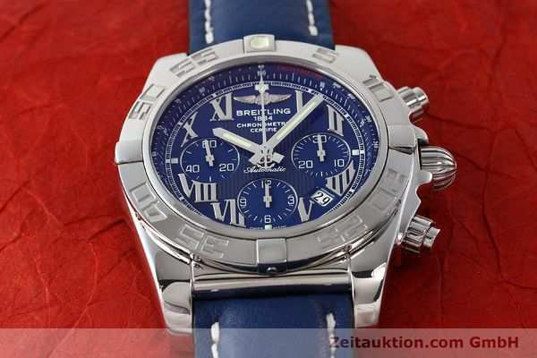 Used luxury watch Breitling Chronomat 44 chronograph steel automatic Kal. B01 Ref. AB0110  | 142826 16