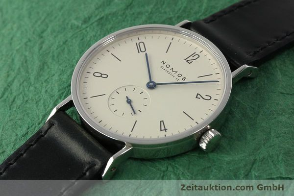 Used luxury watch Nomos Tangente steel manual winding Kal. ETA 7001  | 142833 01