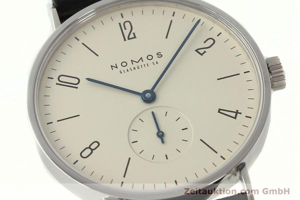 Used luxury watch Nomos Tangente steel manual winding Kal. ETA 7001  | 142833 02