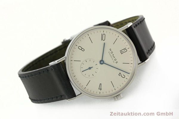 Used luxury watch Nomos Tangente steel manual winding Kal. ETA 7001  | 142833 03