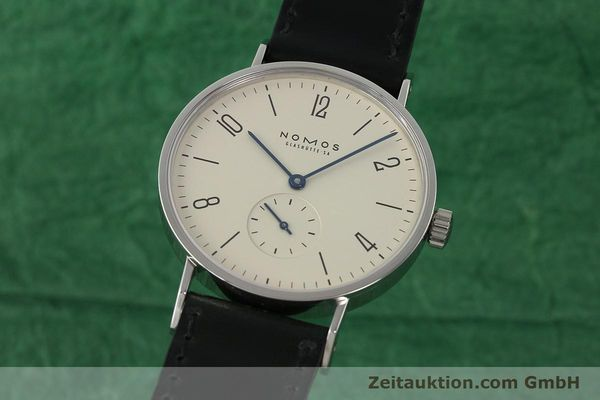Used luxury watch Nomos Tangente steel manual winding Kal. ETA 7001  | 142833 04
