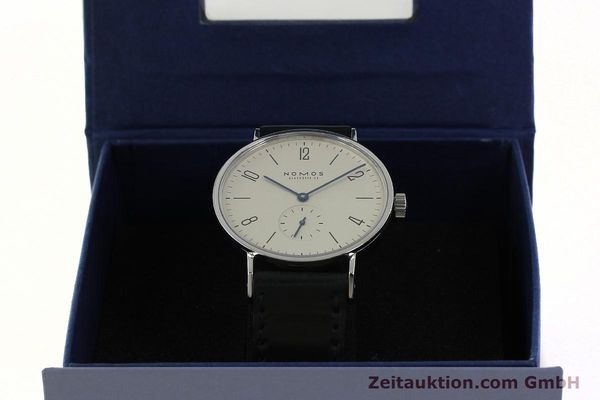 Used luxury watch Nomos Tangente steel manual winding Kal. ETA 7001  | 142833 07