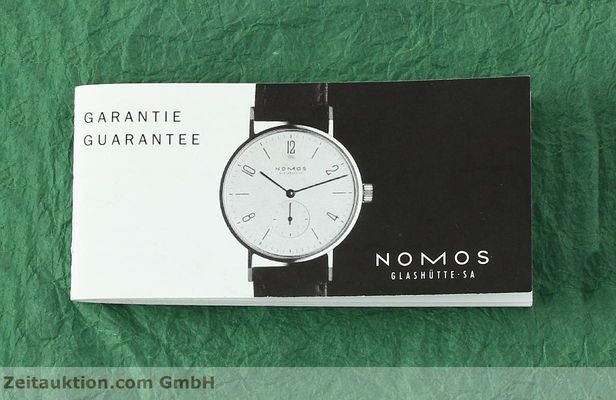 Used luxury watch Nomos Tangente steel manual winding Kal. ETA 7001  | 142833 08