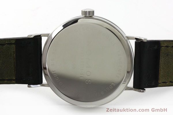 Used luxury watch Nomos Tangente steel manual winding Kal. ETA 7001  | 142833 09