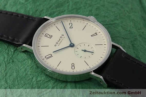 Used luxury watch Nomos Tangente steel manual winding Kal. ETA 7001  | 142833 15