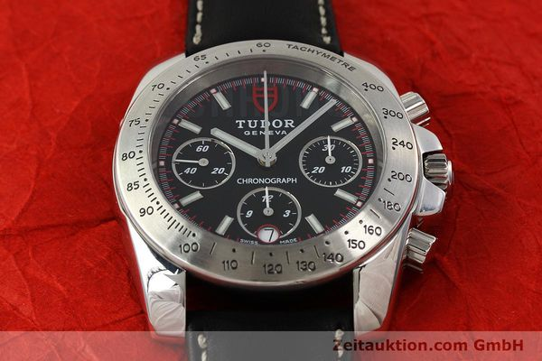 Used luxury watch Tudor Sport Chronograph chronograph steel automatic Kal. ETA 7753 Ref. 20300  | 142849 15