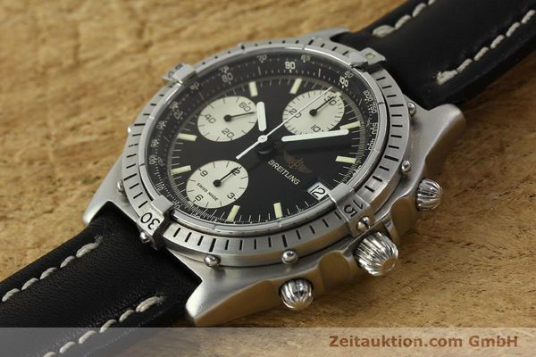 Used luxury watch Breitling Chronomat chronograph steel automatic Kal. Valj. 7750 Ref. 81950  | 142857 01