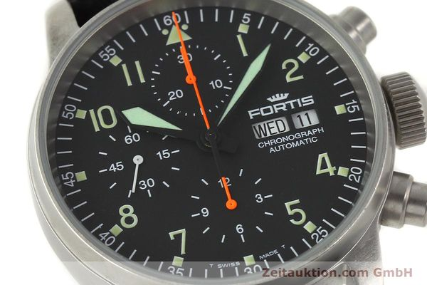 Used luxury watch Fortis Cosmonauts Chronograph chronograph steel automatic Kal. ETA 7750 Ref. 595.10.46  | 142861 02
