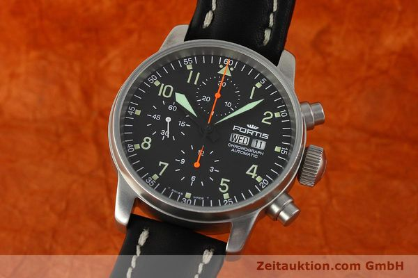 Used luxury watch Fortis Cosmonauts Chronograph chronograph steel automatic Kal. ETA 7750 Ref. 595.10.46  | 142861 04