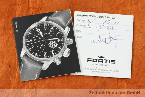 Used luxury watch Fortis Cosmonauts Chronograph chronograph steel automatic Kal. ETA 7750 Ref. 595.10.46  | 142861 08
