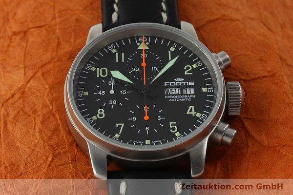Used luxury watch Fortis Cosmonauts Chronograph chronograph steel automatic Kal. ETA 7750 Ref. 595.10.46  | 142861 16