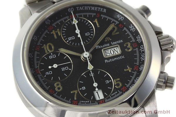 Used luxury watch Maurice Lacroix Croneo chronograph steel automatic Kal. ETA 7750 Ref. 39721  | 142863 02