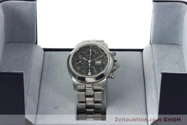Used luxury watch Maurice Lacroix Croneo chronograph steel automatic Kal. ETA 7750 Ref. 39721  | 142863 07