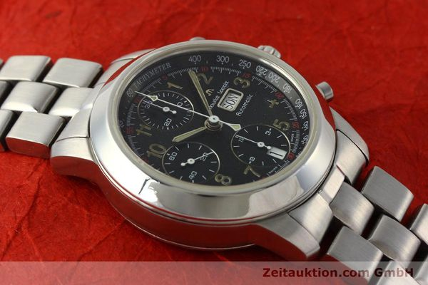 Used luxury watch Maurice Lacroix Croneo chronograph steel automatic Kal. ETA 7750 Ref. 39721  | 142863 14