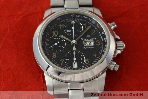 Used luxury watch Maurice Lacroix Croneo chronograph steel automatic Kal. ETA 7750 Ref. 39721  | 142863 15