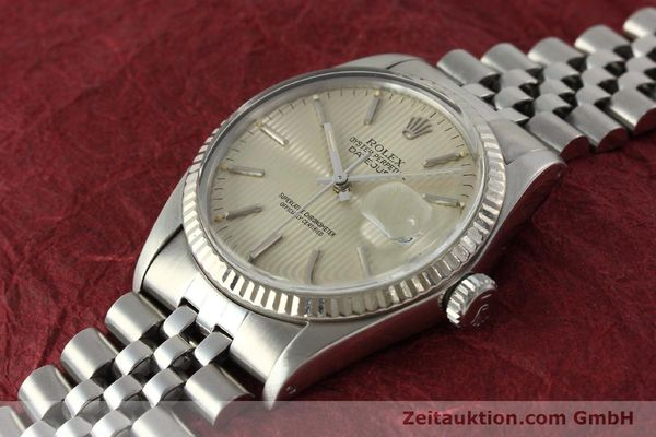Used luxury watch Rolex Datejust steel / white gold automatic Kal. 3035 Ref. 16014  | 142869 01