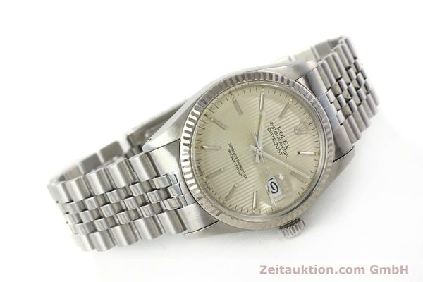 Used luxury watch Rolex Datejust steel / white gold automatic Kal. 3035 Ref. 16014  | 142869 03