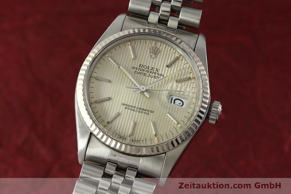 Used luxury watch Rolex Datejust steel / white gold automatic Kal. 3035 Ref. 16014  | 142869 04