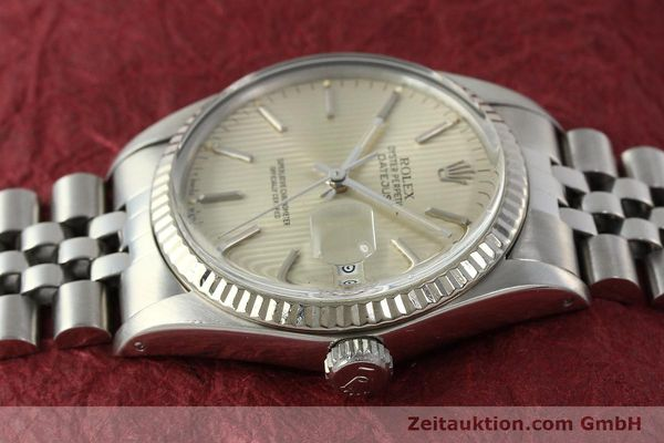 Used luxury watch Rolex Datejust steel / white gold automatic Kal. 3035 Ref. 16014  | 142869 05