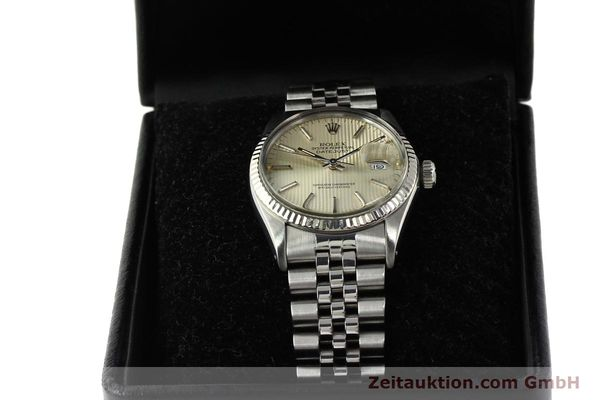 Used luxury watch Rolex Datejust steel / white gold automatic Kal. 3035 Ref. 16014  | 142869 07