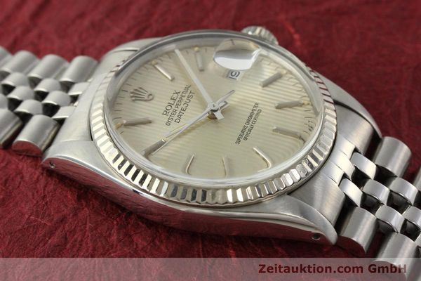 Used luxury watch Rolex Datejust steel / white gold automatic Kal. 3035 Ref. 16014  | 142869 16