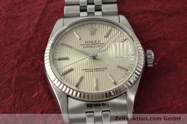 Used luxury watch Rolex Datejust steel / white gold automatic Kal. 3035 Ref. 16014  | 142869 17