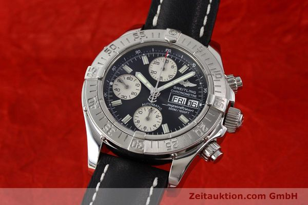 Used luxury watch Breitling Superocean Chronograph chronograph steel automatic Kal. B13 ETA 7750 Ref. A13340  | 142870 04