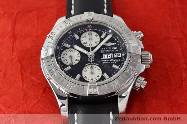 Used luxury watch Breitling Superocean Chronograph chronograph steel automatic Kal. B13 ETA 7750 Ref. A13340  | 142870 15