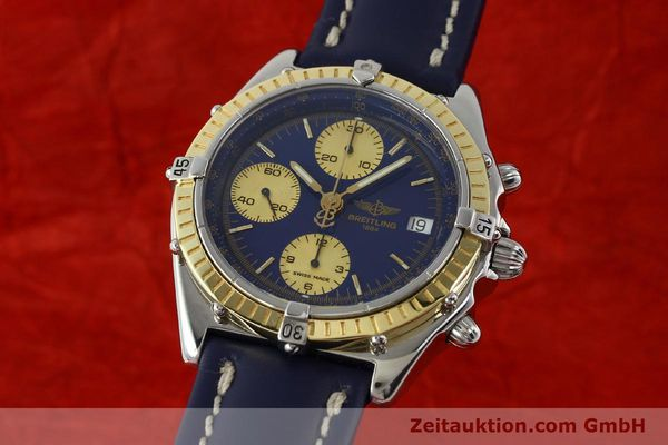 Used luxury watch Breitling Chronomat chronograph steel / gold automatic Kal. B13 ETA 7750 Ref. D13047  | 142872 04
