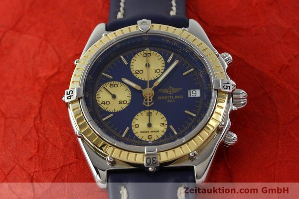 Used luxury watch Breitling Chronomat chronograph steel / gold automatic Kal. B13 ETA 7750 Ref. D13047  | 142872 15