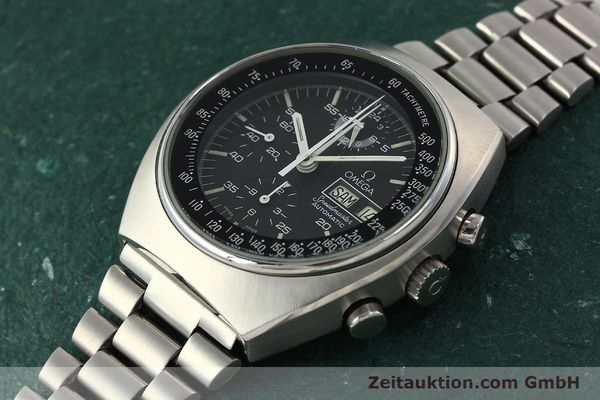 Used luxury watch Omega Speedmaster chronograph steel automatic Kal. 1045  | 142876 01
