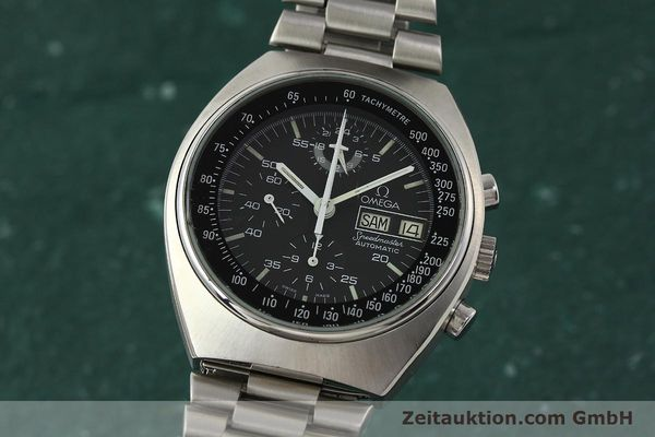 Used luxury watch Omega Speedmaster chronograph steel automatic Kal. 1045  | 142876 04