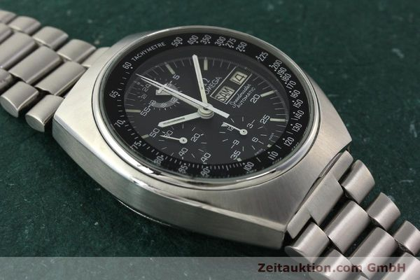 Used luxury watch Omega Speedmaster chronograph steel automatic Kal. 1045  | 142876 14
