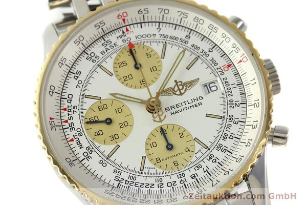 Used luxury watch Breitling Navitimer chronograph steel / gold automatic Kal. B13 ETA 7750 Ref. D13022  | 142880 02
