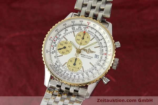 Used luxury watch Breitling Navitimer chronograph steel / gold automatic Kal. B13 ETA 7750 Ref. D13022  | 142880 04