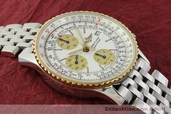 Used luxury watch Breitling Navitimer chronograph steel / gold automatic Kal. B13 ETA 7750 Ref. D13022  | 142880 14