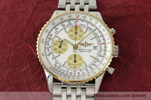Used luxury watch Breitling Navitimer chronograph steel / gold automatic Kal. B13 ETA 7750 Ref. D13022  | 142880 15