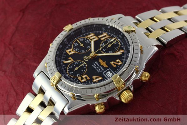 Used luxury watch Breitling Chronomat chronograph steel / gold automatic Kal. B13 ETA 7750 Ref. B13050.1  | 142886 01