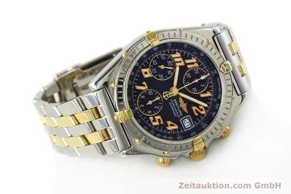 Used luxury watch Breitling Chronomat chronograph steel / gold automatic Kal. B13 ETA 7750 Ref. B13050.1  | 142886 03