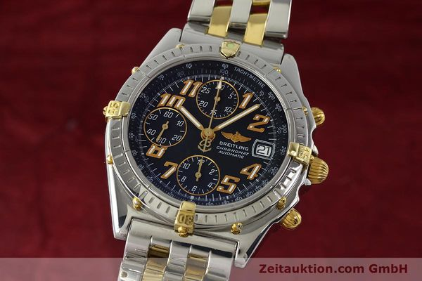 Used luxury watch Breitling Chronomat chronograph steel / gold automatic Kal. B13 ETA 7750 Ref. B13050.1  | 142886 04