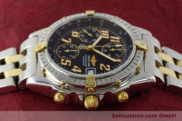 Used luxury watch Breitling Chronomat chronograph steel / gold automatic Kal. B13 ETA 7750 Ref. B13050.1  | 142886 05