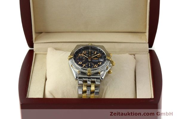 Used luxury watch Breitling Chronomat chronograph steel / gold automatic Kal. B13 ETA 7750 Ref. B13050.1  | 142886 07