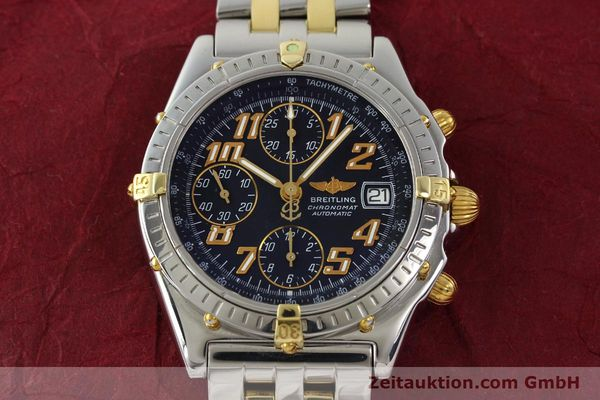 Used luxury watch Breitling Chronomat chronograph steel / gold automatic Kal. B13 ETA 7750 Ref. B13050.1  | 142886 16
