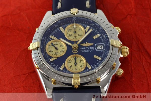 Used luxury watch Breitling Chronomat chronograph steel / gold automatic Kal. B13 ETA 7750 Ref. B13050.1  | 142887 16