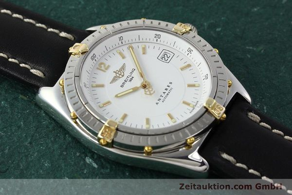 Used luxury watch Breitling Antares steel / gold automatic Kal. B10 ETA 2892A2 Ref. B10048  | 142890 13
